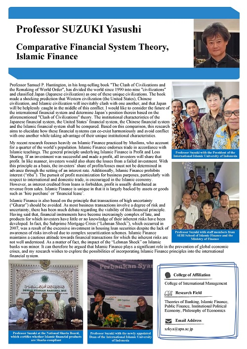 Comparative Financial System Theory, Islamic Finance