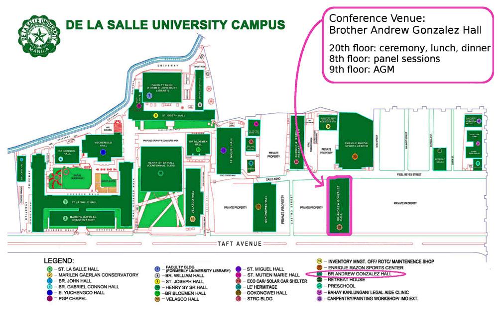 la salle university campus map 5 Travel Information Iaaps International Association For Asia la salle university campus map